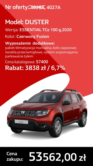 DUSTER 4026A I 4027A