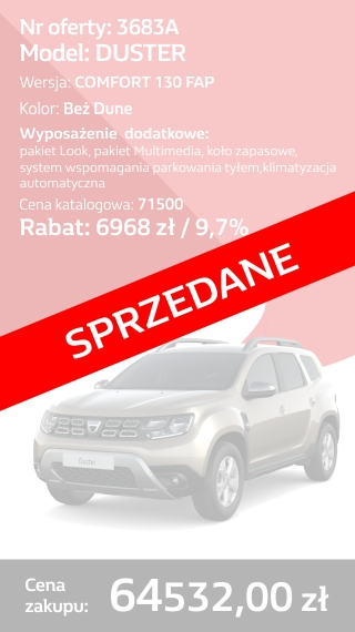 DUSTER 3683A