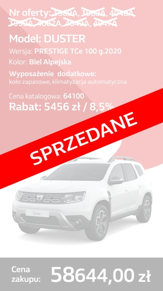 DUSTER 3989a