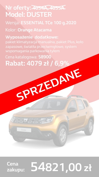 DUSTER 4034A I 4035A