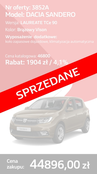 SANDERO 3852A