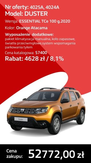 DUSTER 4025A I 4024A